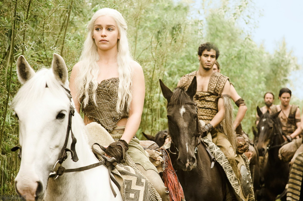 Daenerys targaryen and khal drogo wallpaper daenerys targaryen wedding - Image Via Hbo