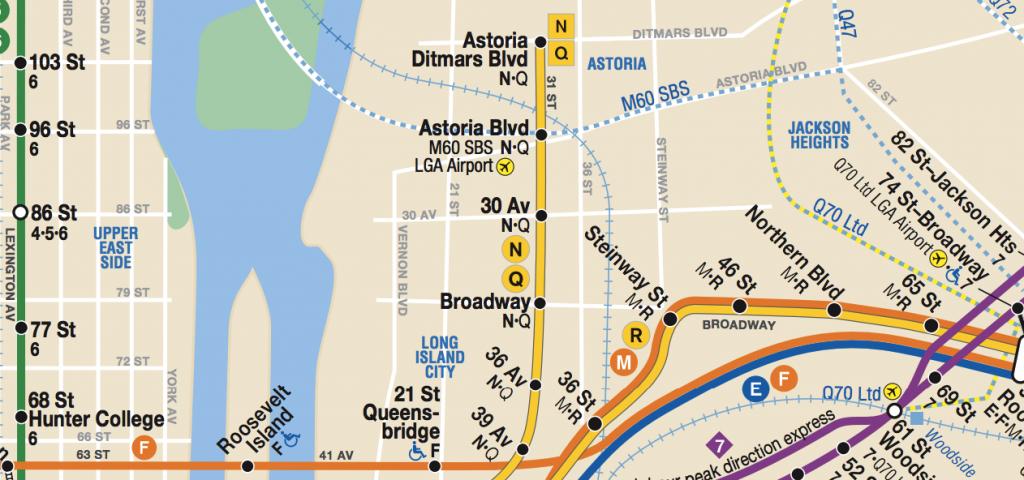 Astoria Subway Map