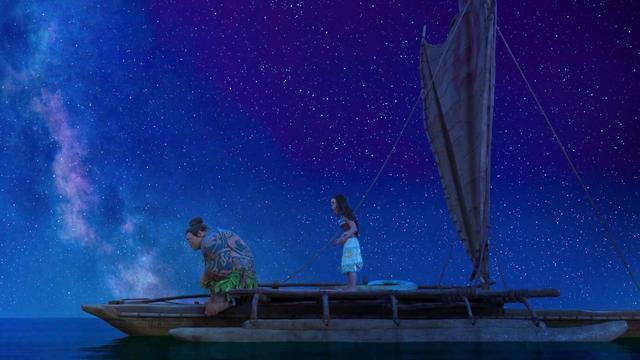 En la peli de Disney de Moana, las estrellas son un elemento clave