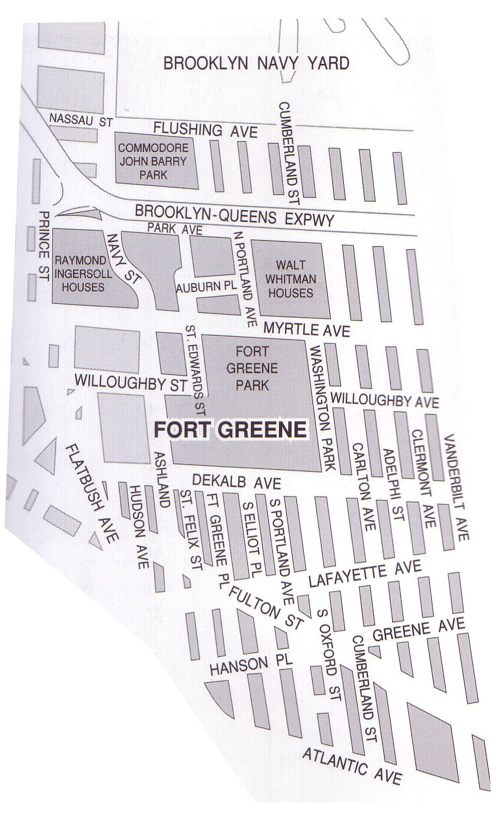 Fort Greene Subway Map.The Peopling Of New York Fort Greene And Clinton Hill