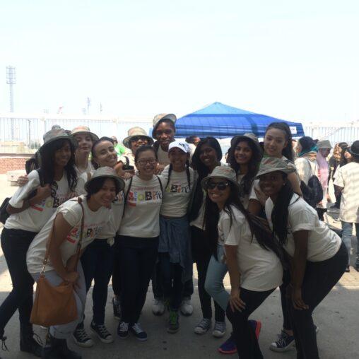 A group of Macaulay students at the Freshkills BioBlitz