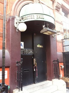 One of the entrances into Webster Hall