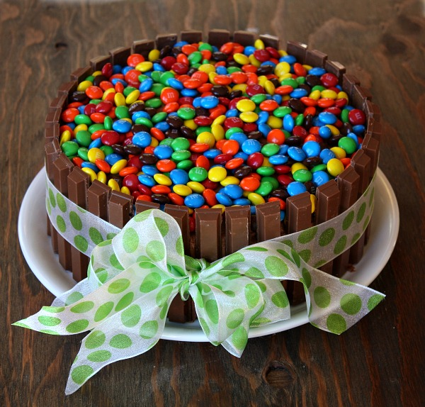 Birthday Cake With Kit Kats And Smarties