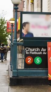 2 & 5 Church Ave Subway Stop