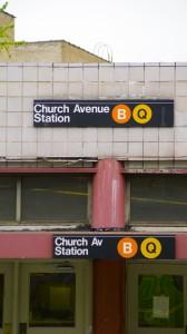 B & Q Church Ave Subway Stop