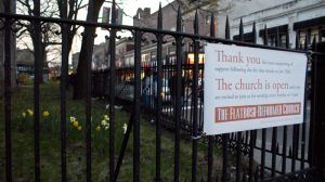 The neighborhood's gratitude towards the church was best shown when they came together and helped out the church after a fire that erupted in January.