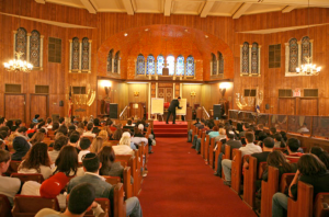 Talmud class being administered to youths
