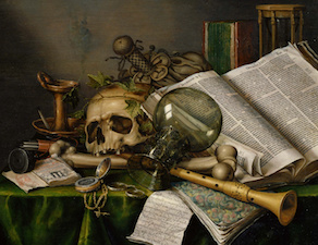 Edwaert_Collier_-_Vanitas_-_Still_Life_with_Books_and_Manuscripts_and_a_Skull_-_Google_Art_Project