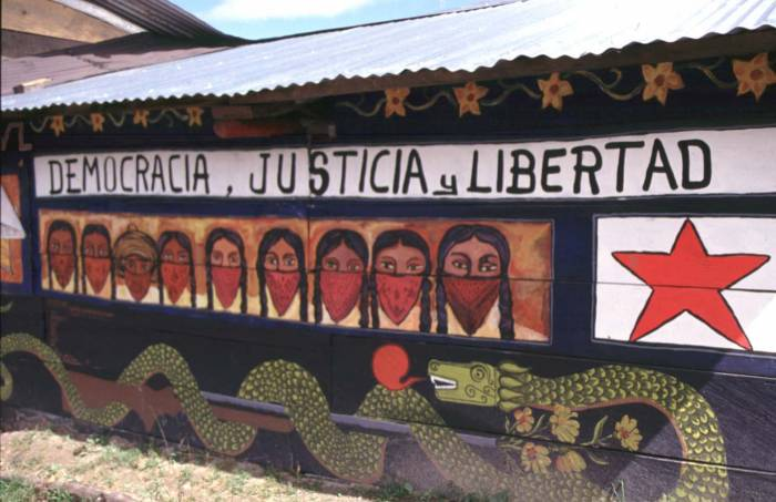 Zapatista support jews and mexicans here and there for Mural zapatista
