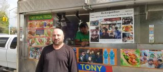 Halal Cart Owner and His Food Truck