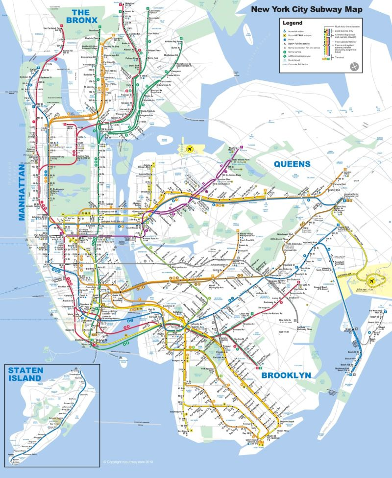 Ny 2017 Subway Map.2010 The Arts In New York City