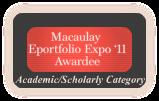 Macaulay Eportfolio Expo Awardee