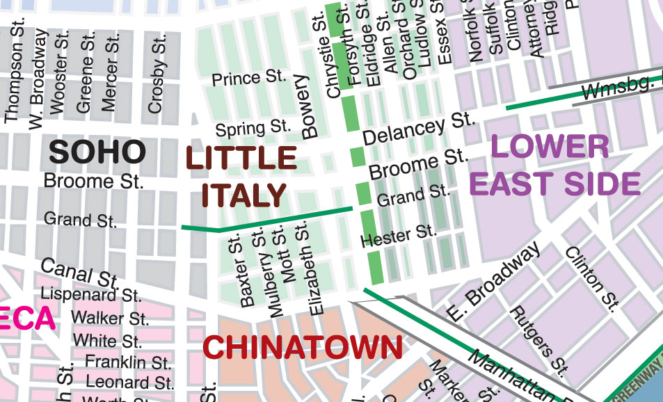 Map Of Little Italy Nyc Present | Italian Immigration