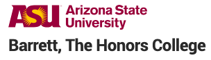 Wordmark reading Arizona State University, Barrett: The Honors College
