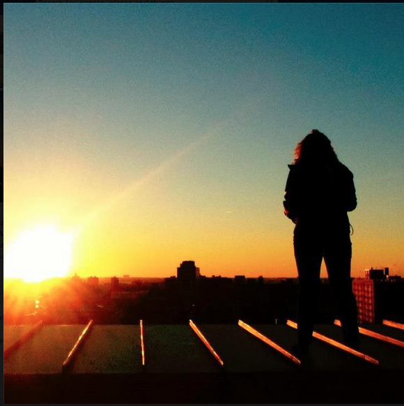 Sunrise on the Roof of Studio