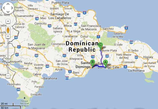 Day Santo Domingo Liz Abroad - Santo domingo map