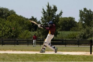cricket batter swinging