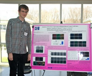 Peter Hannon '12 researched the over expression of the protein Tau in human breast cancer cell lines.