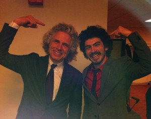 Tyler Alterman  (Hunter '13) with psychologist Steven Pinker.