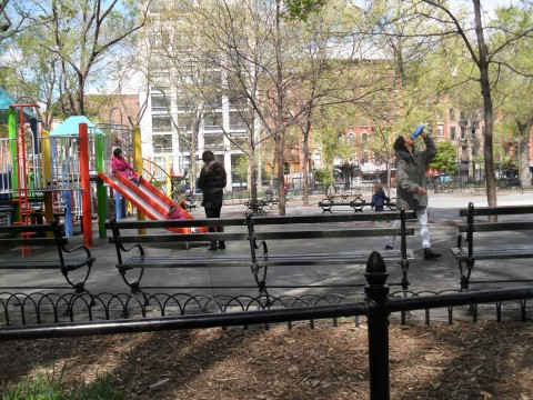 A typical view of the playground