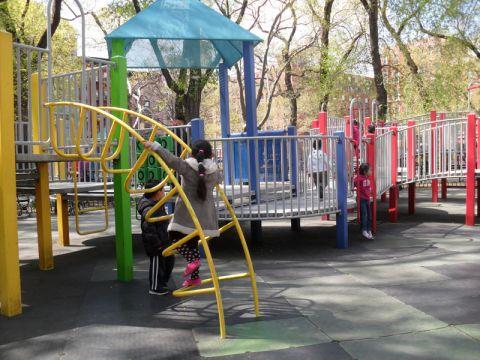 A girl enjoying her recess
