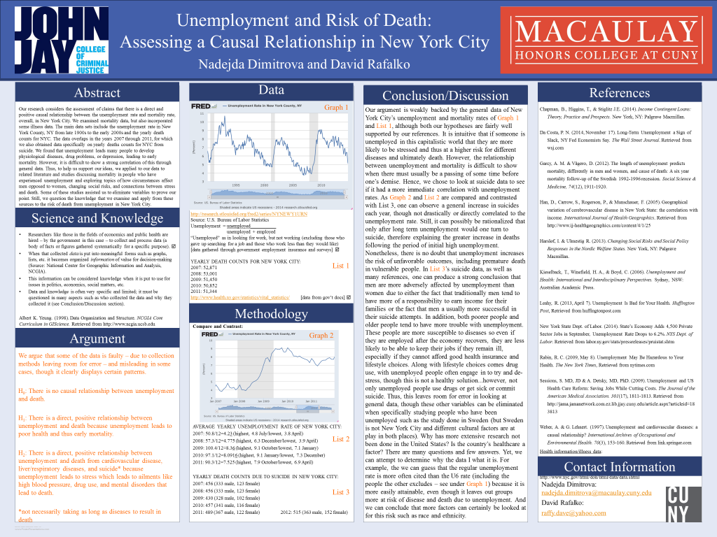 Unemployment and Risk of Death- Assessing a Causal