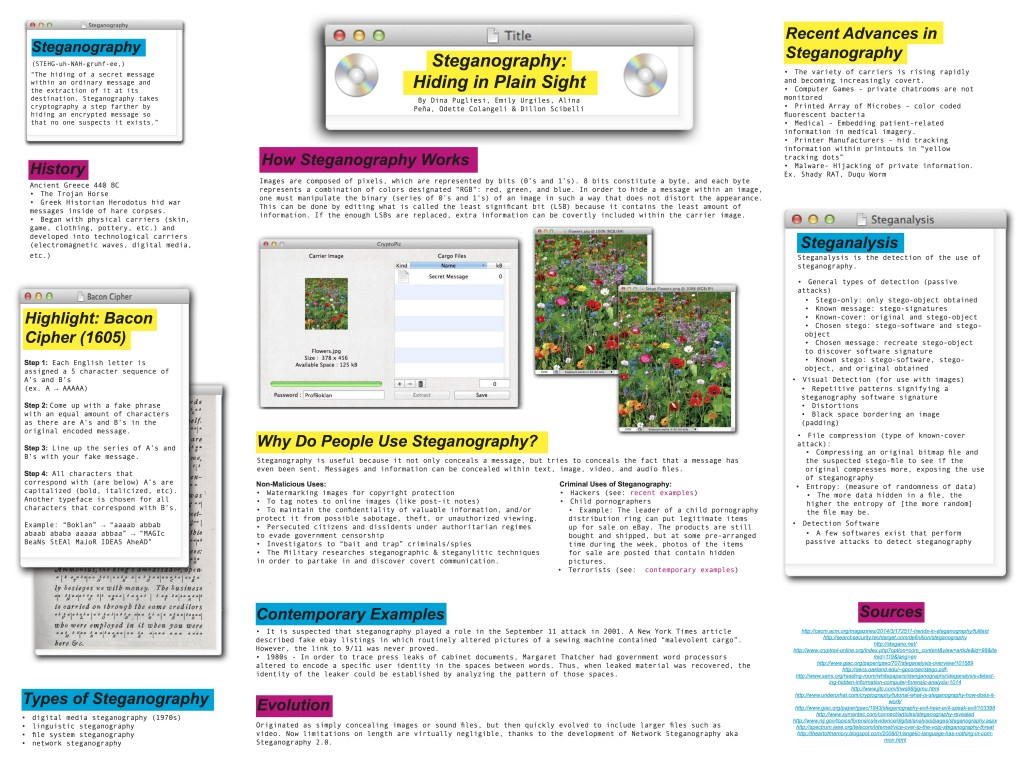 steganography hiding in plain sight seminar 3 posters