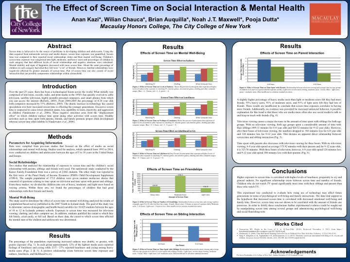The Effect Of Screen Time On Social Interaction Mental Health
