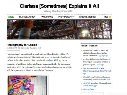 Clarissa Baquiran, Clarissa [Sometimes] Explains It All