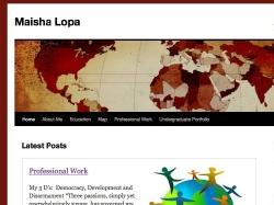 Maisha Lopa, Maisha Lopa's Eportfolio
