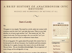LisaMarie Maher, A Brief History of Anachronism (NYC Edition)
