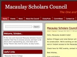 Kaitlyn O'Hagan and Julia Dancer, Macaulay Scholars Council