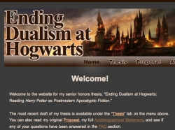 Ariana Tobias, Reading Harry Potter as Postmodern Apocalyptic Fiction