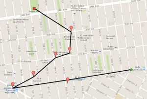 Walking Tour Route - Jackson Heights