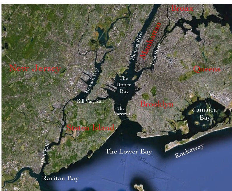 Map Of New York Harbour.Map Staten Island Waterfront 2012