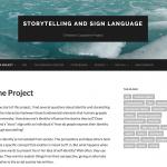 """Storytelling and Sign Language""—Christina Oros, Brooklyn College http://eportfolios.macaulay.cuny.edu/storytelling"