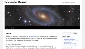 Science for Dessert