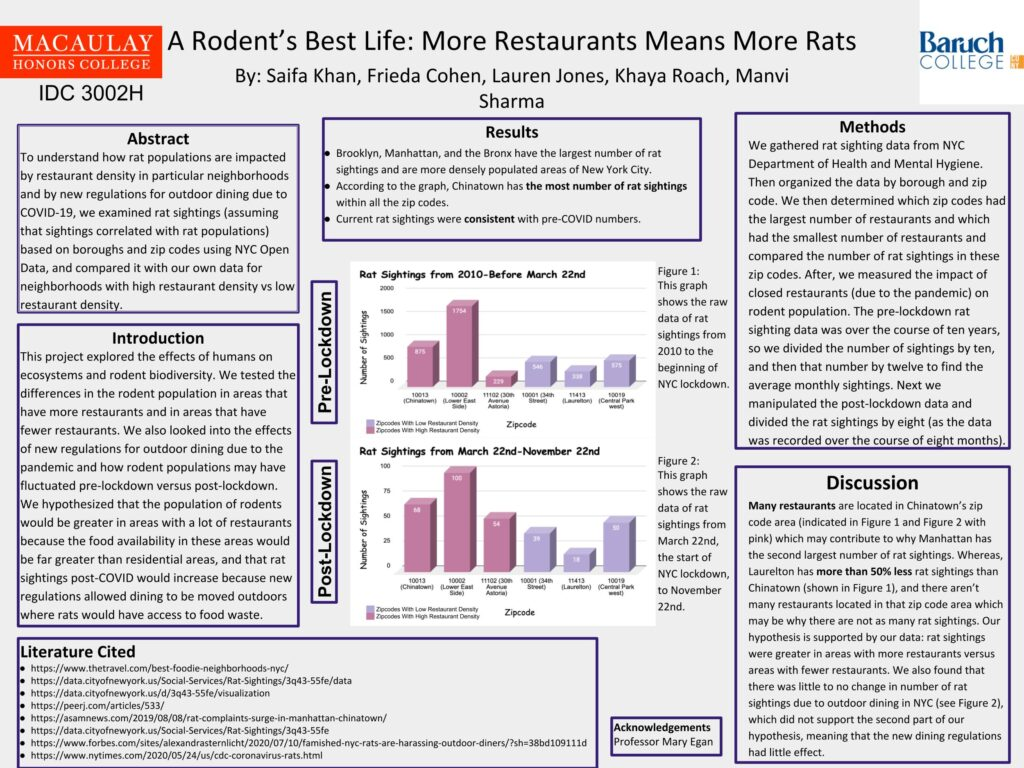 """""""Poster for A Rodent's Best Life: More Restaurants Means More Rats"""""""