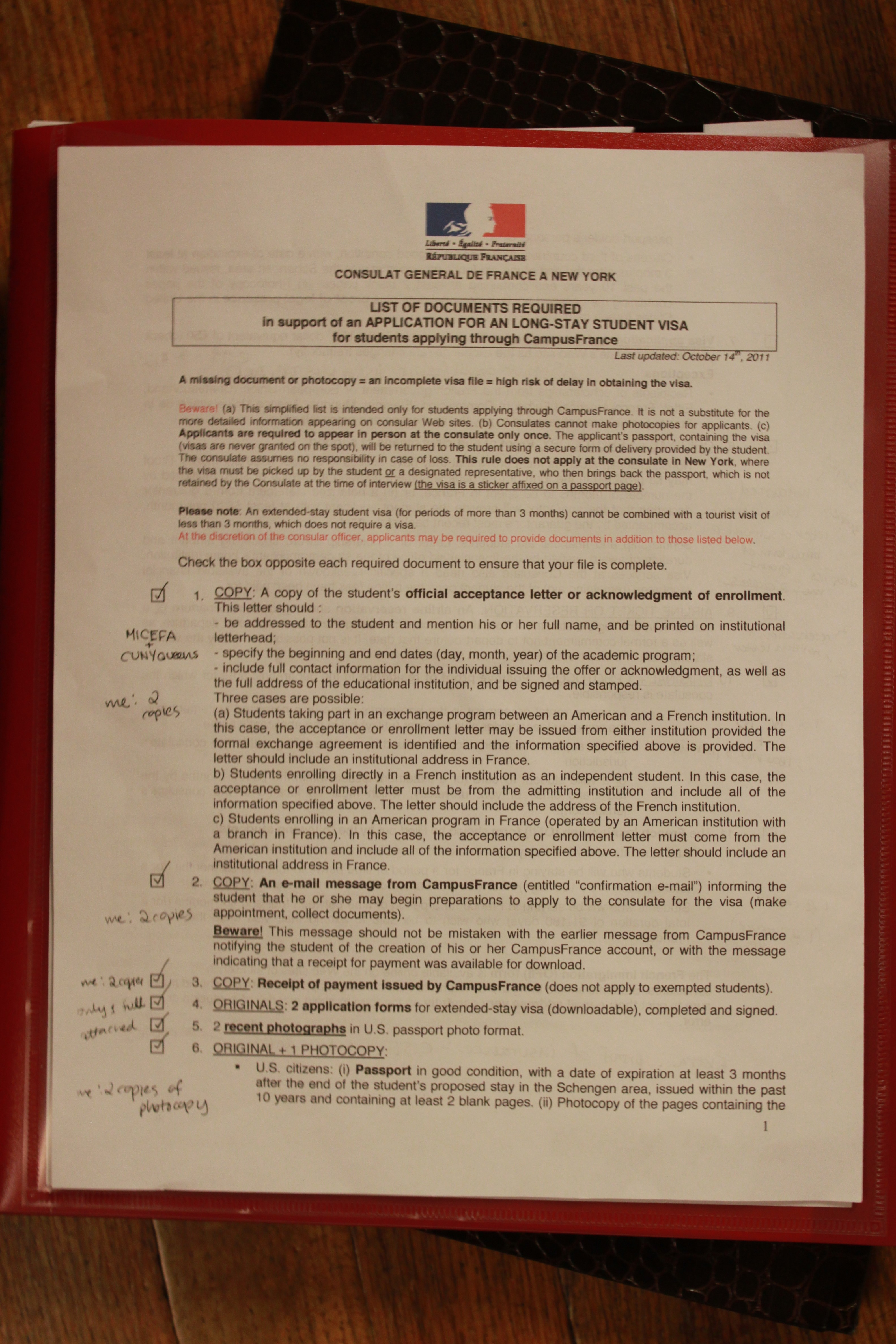 French Consulate in NY: Applying for a Long Stay Student Visa ... on france schengen visa proof of employment, france travel, france visa requirements,