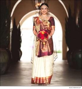 Gujarati-style-of-wearing-a-saree