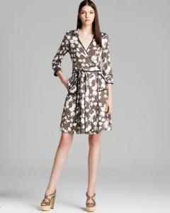 A model wears one of Diane von Furstenberg's iconic wrap dresses