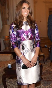 Catherine, Duchess of Cambridge wearing Prabal Gurung in 2012