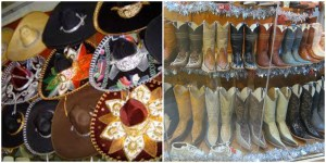 Traditional Mexican Sombrero and boots.