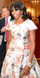First Lady Michelle Obama wearing Prabal Gurung in 2013